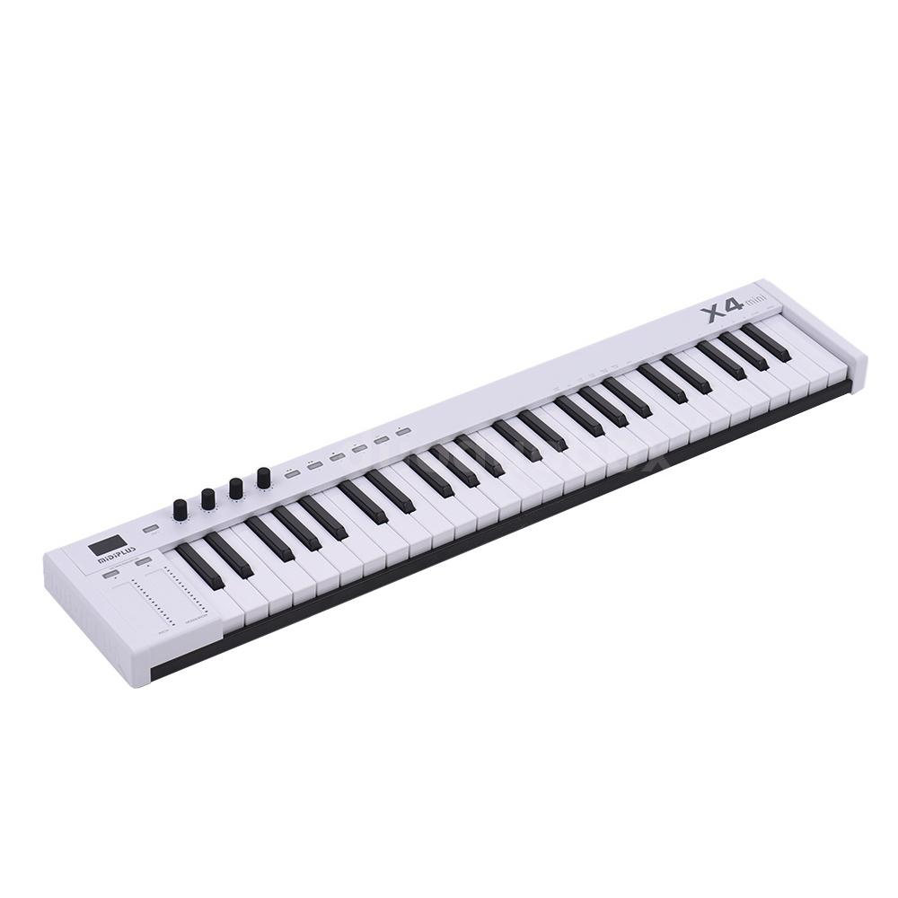 mini midiplus x4 49 key usb midi keyboard controller led with usb cable new s3z3 ebay. Black Bedroom Furniture Sets. Home Design Ideas