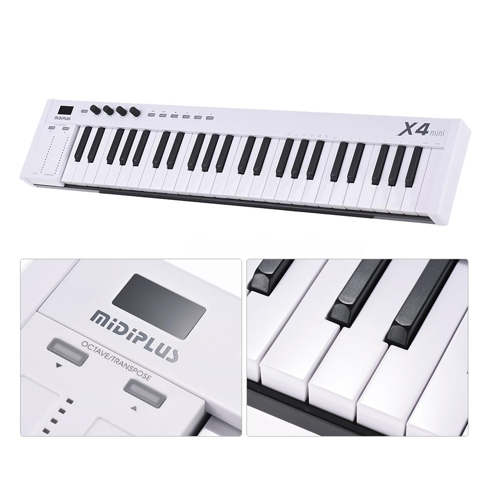 mini midiplus x4 49 key usb midi keyboard controller led with usb cable new s3z3. Black Bedroom Furniture Sets. Home Design Ideas