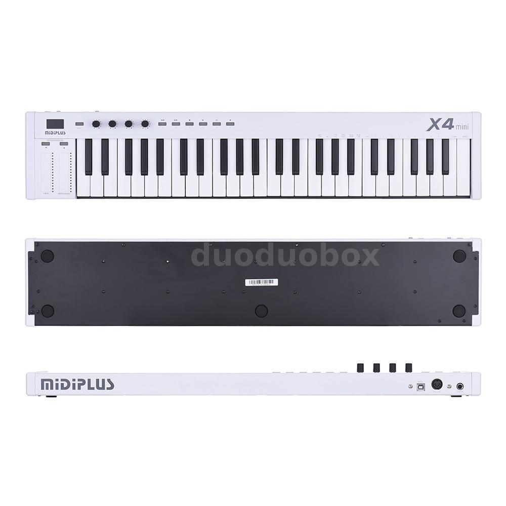 mini midiplus x4 49 key usb midi keyboard controller led with usb cable new s3z3 ebay. Black Bedroom Furniture Sets. Home Design Ideas