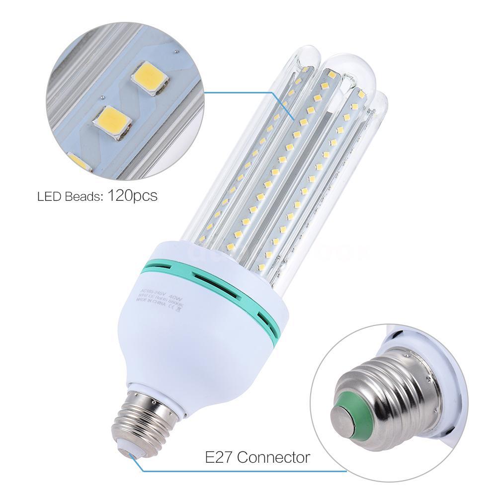 40w e27 3500lm photo studio video daylight led corn bulb light lamp white o9i9 ebay. Black Bedroom Furniture Sets. Home Design Ideas