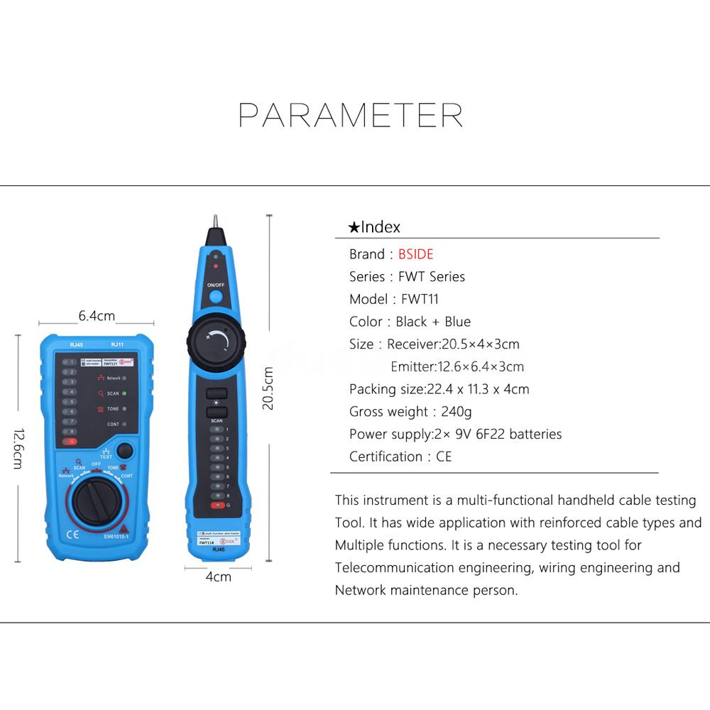 multi functional handheld network cable tester telephone line wire tracker c9h7 ebay