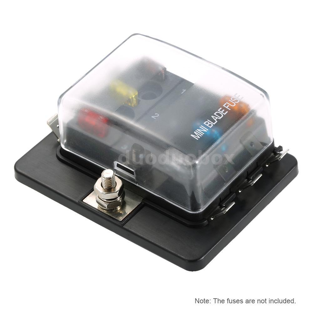 6 way mini blade fuse box holder apm atm 5a 10a 25a for car boat 12 24v dd x1s2 ebay