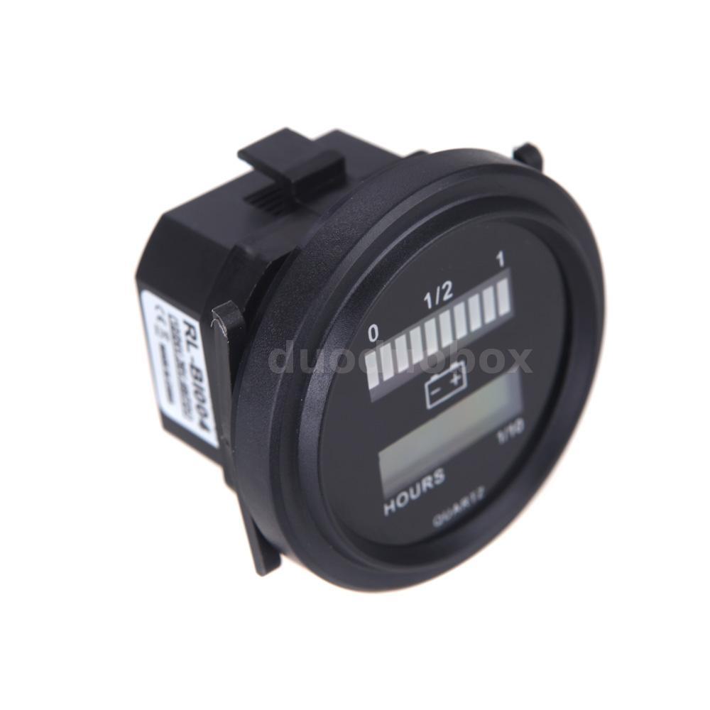 Digital Battery Meter : Led digital battery status charge indicator hour meter