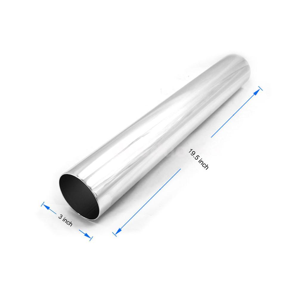 Silver inch mm car air intake aluminium tube pipe