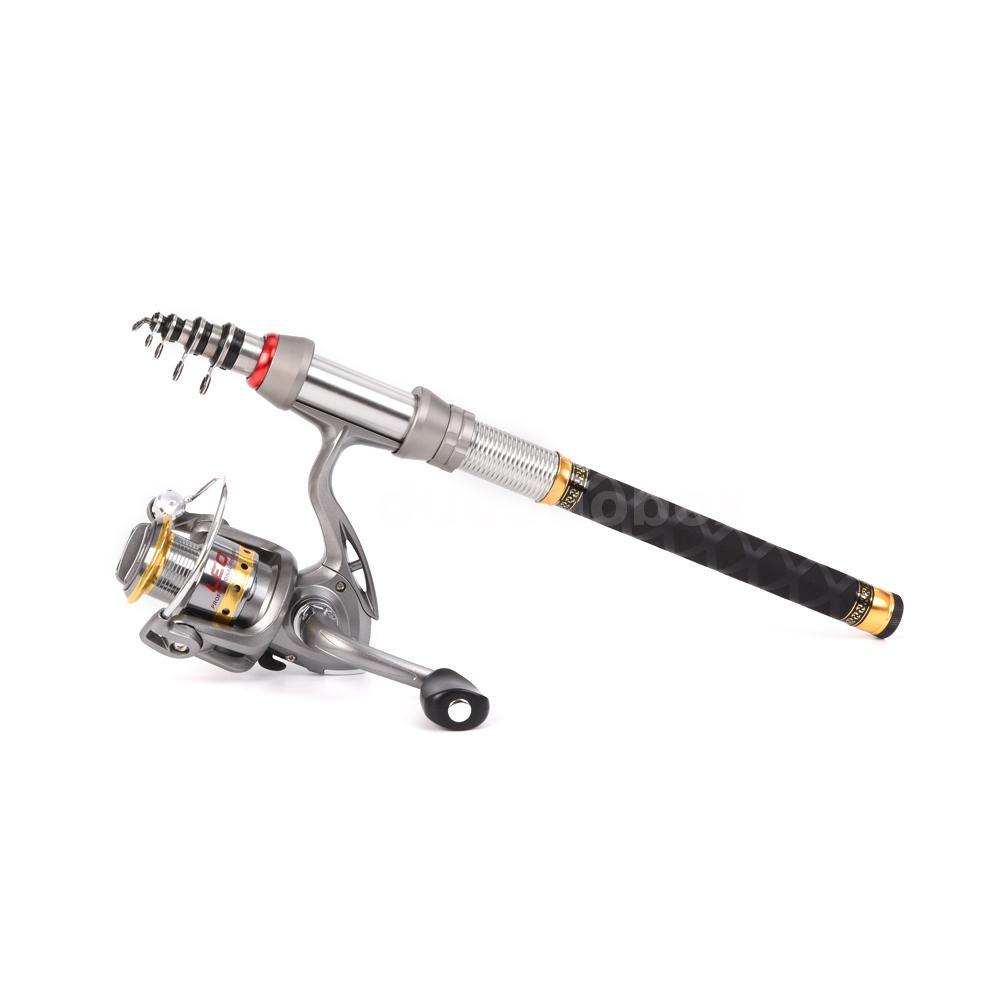 2.1m Telescopic Spinning Fishing Rod Reel Combo Bag Gear